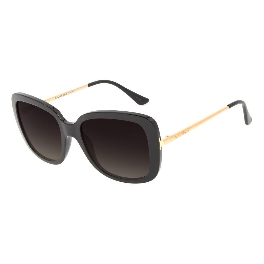 Óculos de Sol Feminino Chilli Beans Quadrado Max Degradê Verde OC.CL.3258-8202