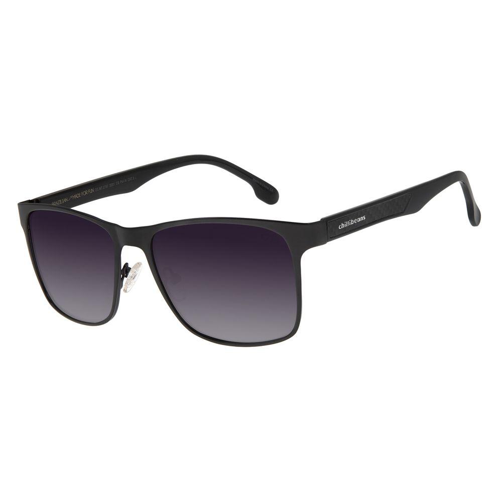 Óculos de Sol Masculino Chilli Beans Executivo Polarizado Metal Degradê OC.MT.3072-2001