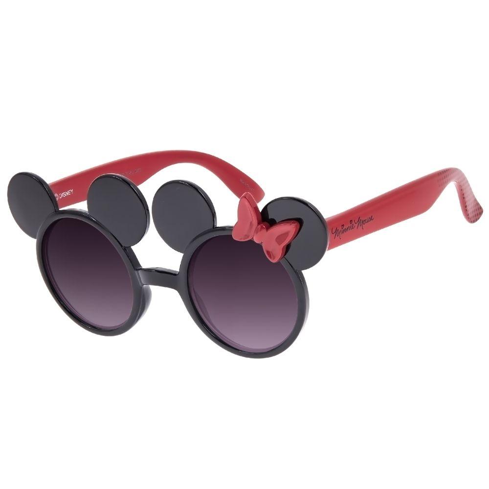 Óculos de Sol Infantil Disney Minnie Mouse Redondo Vermelho OC.KD.0701-2016