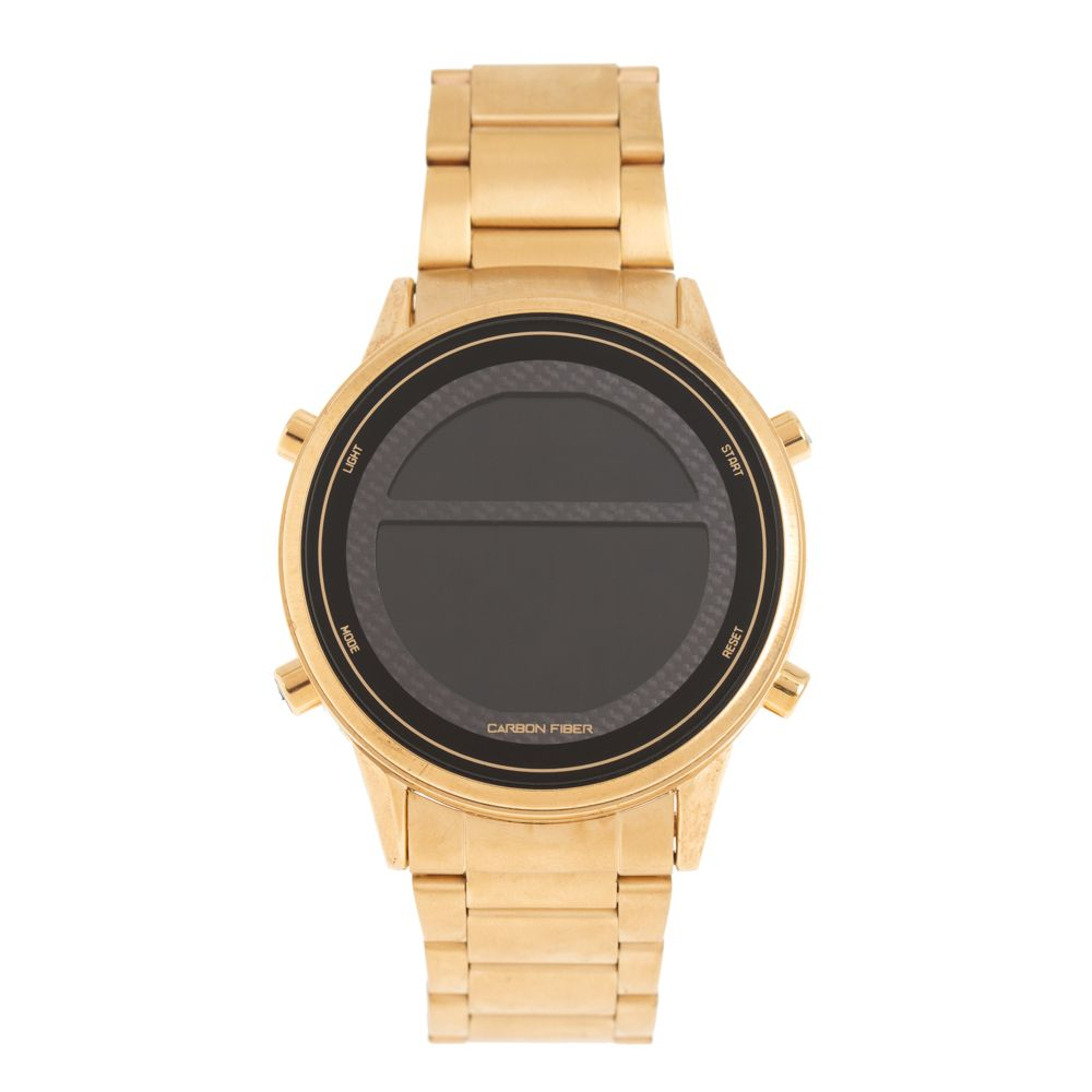 Relógio Digital Masculino Chilli Beans Metal Escovado Dourado RE.MT.1005-0121