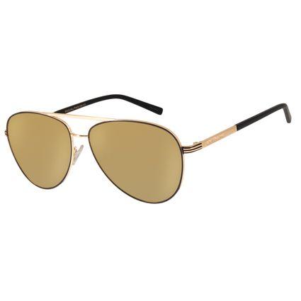 Óculos de Sol Unissex Aviador Chilli Beans Polarizado Metal Fosco Dourado OC.MT.3080-2121