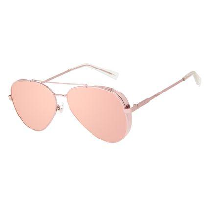 Óculos de Sol Unissex Chilli Beans Aviador Flap Metal Rosé OC.MT.3134-9595