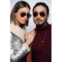 Óculos de Sol Unissex Chilli Beans Aviador Flap Metal Rosé OC.MT.3134_OC.MT.3101