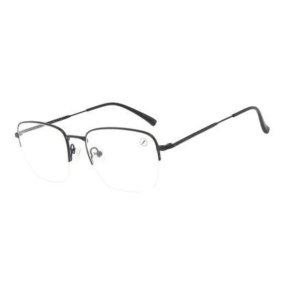Armação Para Óculos de Grau Masculino Chilli Beans Quadrado Inox Preto LV.MT.0505-0101