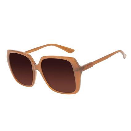 Óculos de Sol Feminino Chilli Beans Quadrado Vintage Marrom OC.CL.3241-5702