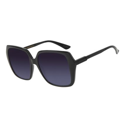 Óculos de Sol Feminino Chilli Beans Quadrado Vintage Preto OC.CL.3241-2001