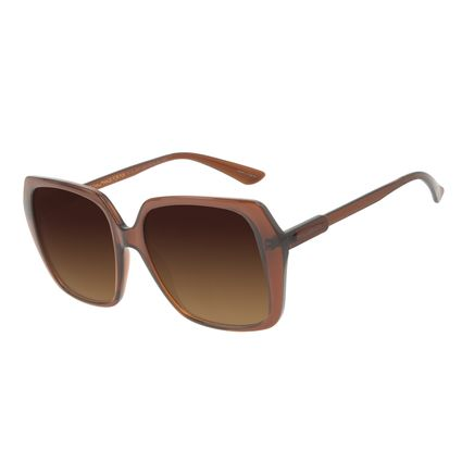 Óculos de Sol Feminino Chilli Beans Quadrado Vintage Brilho OC.CL.3241-5730