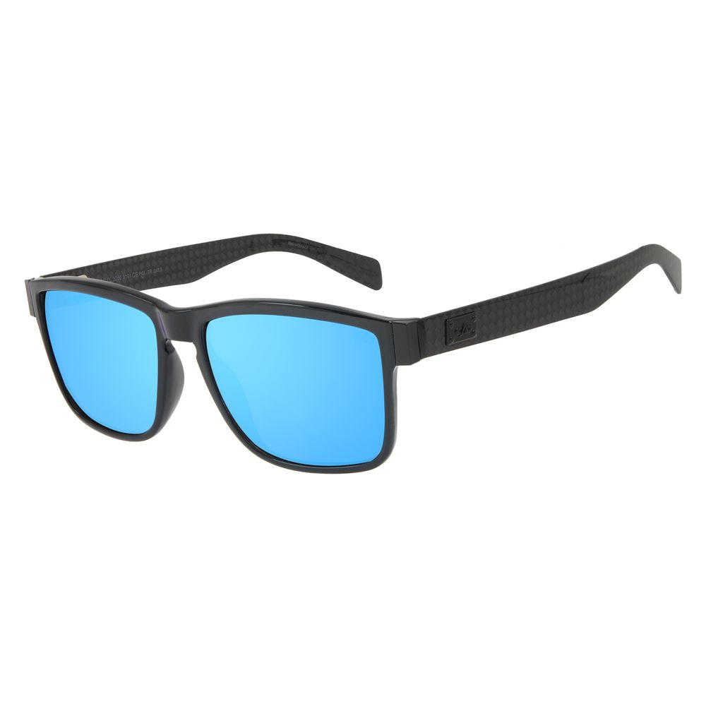 Óculos de Sol Masculino Chilli Beans Essential Quadrado Polarizado Azul Espelhado OC.CL.3250-9101
