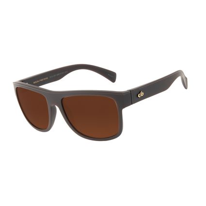 Óculos de Sol Masculino Chilli Beans Essential Quadrado TR90 Marrom OC.CL.3257-0202