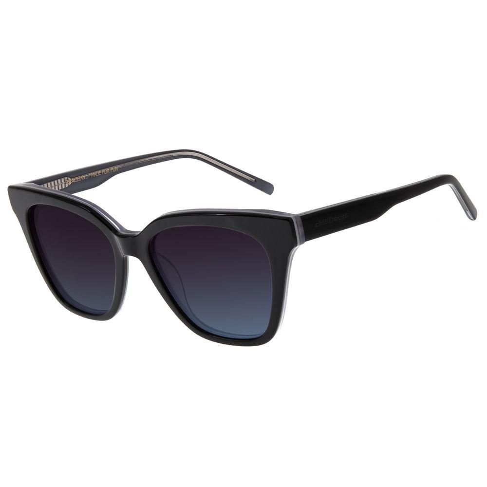 Óculos de Sol Feminino Chilli Beans Redondo Authentic Preto OC.CL.3271-2001