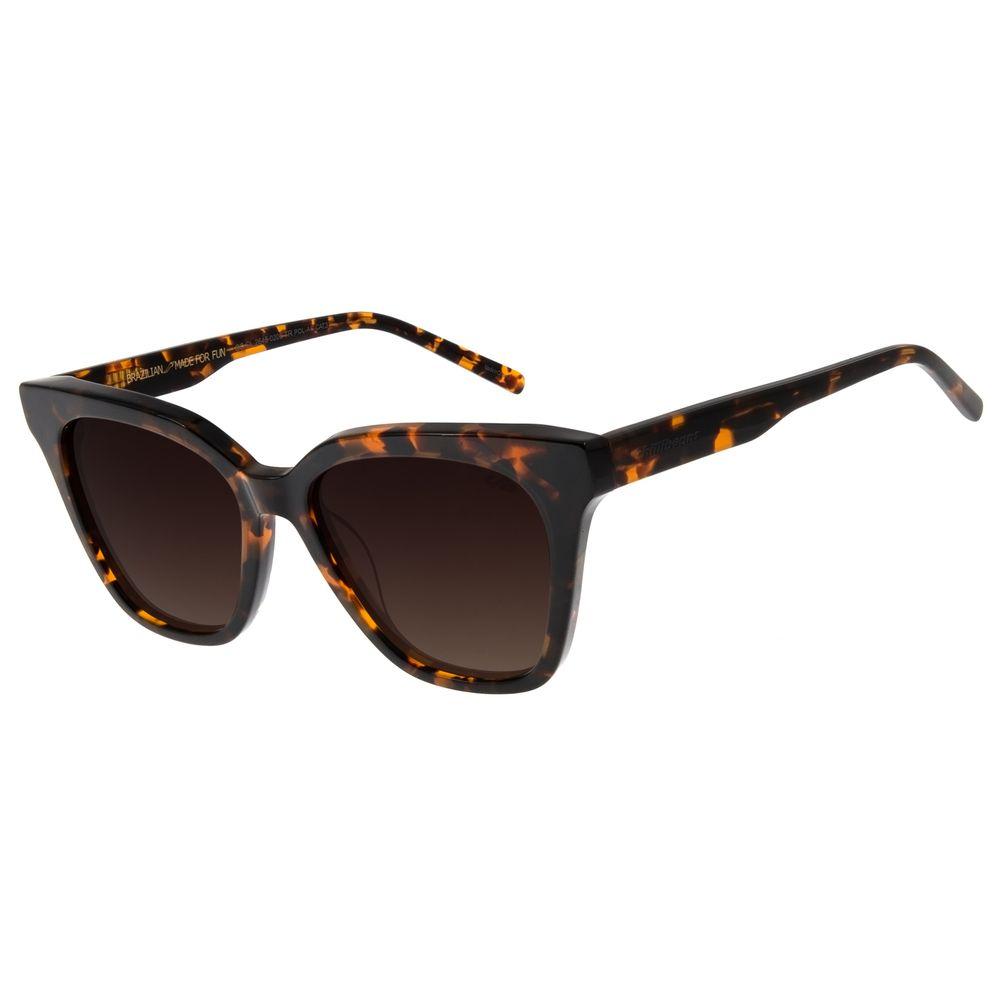 Óculos de Sol Feminino Chilli Beans Redondo Authentic Tartaruga OC.CL.3271-0206