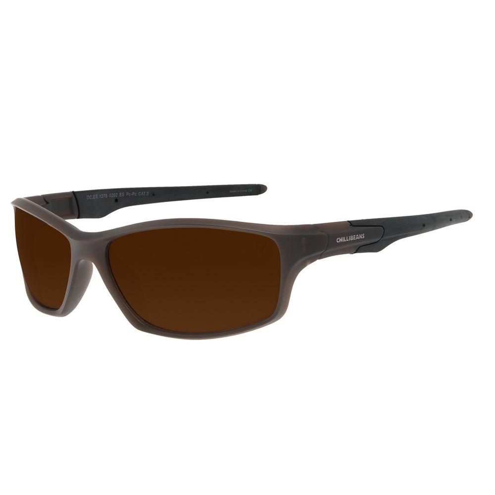 Óculos de Sol Masculino Chilli Beans Performance Sport Marrom OC.ES.1275-0202