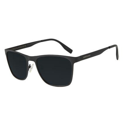 Óculos de Sol Masculino Chilli Beans Executivo Metal Fosco Preto Polarizado OC.MT.3070-0401