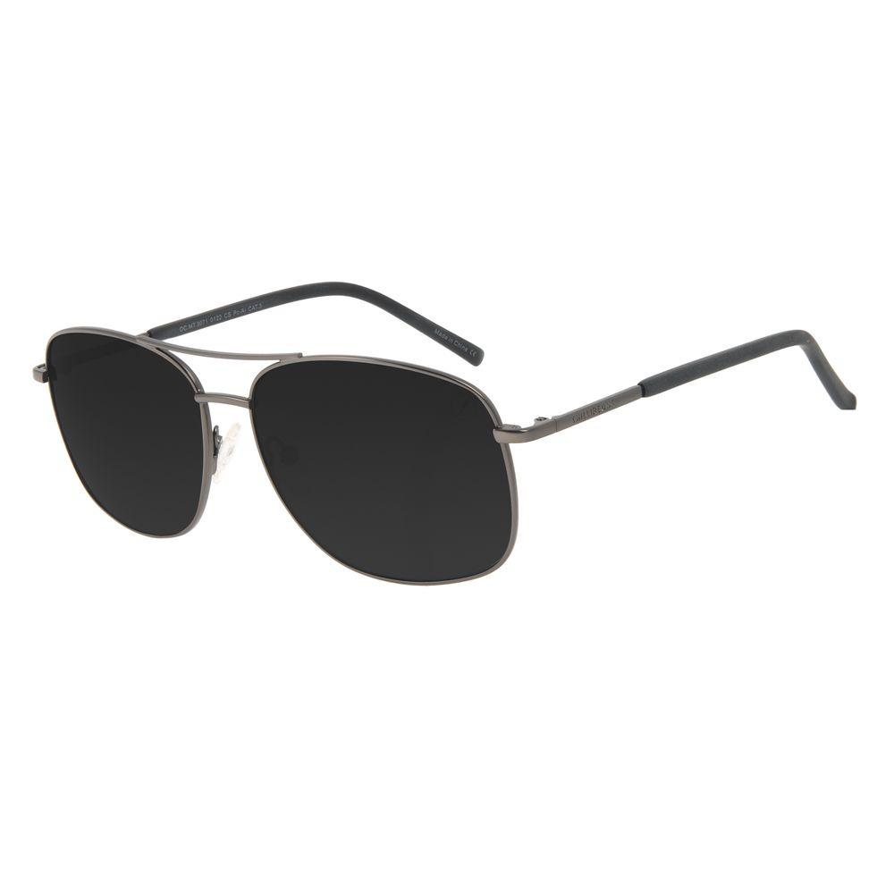 Óculos de Sol Masculino Chilli Beans Executivo Brilho Ônix OC.MT.3071-0122