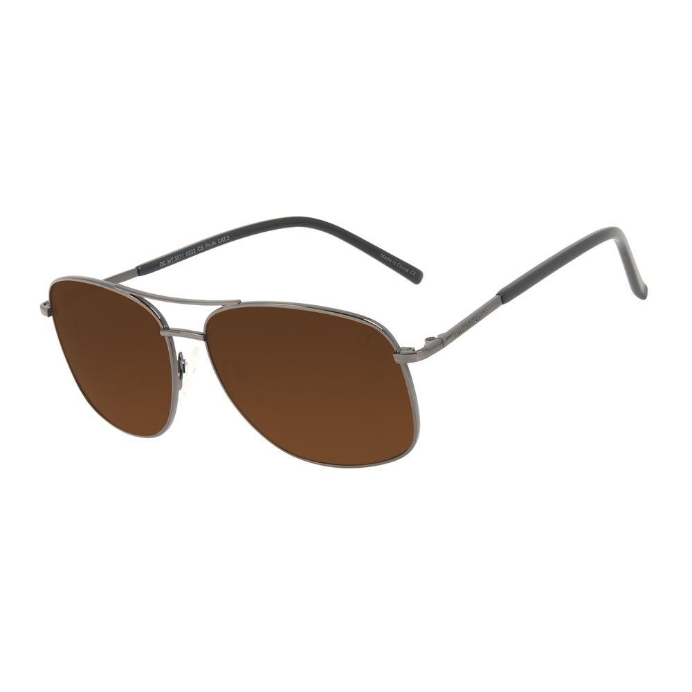 Óculos de Sol Masculino Chilli Beans Executivo Brilho Marrom OC.MT.3071-0222