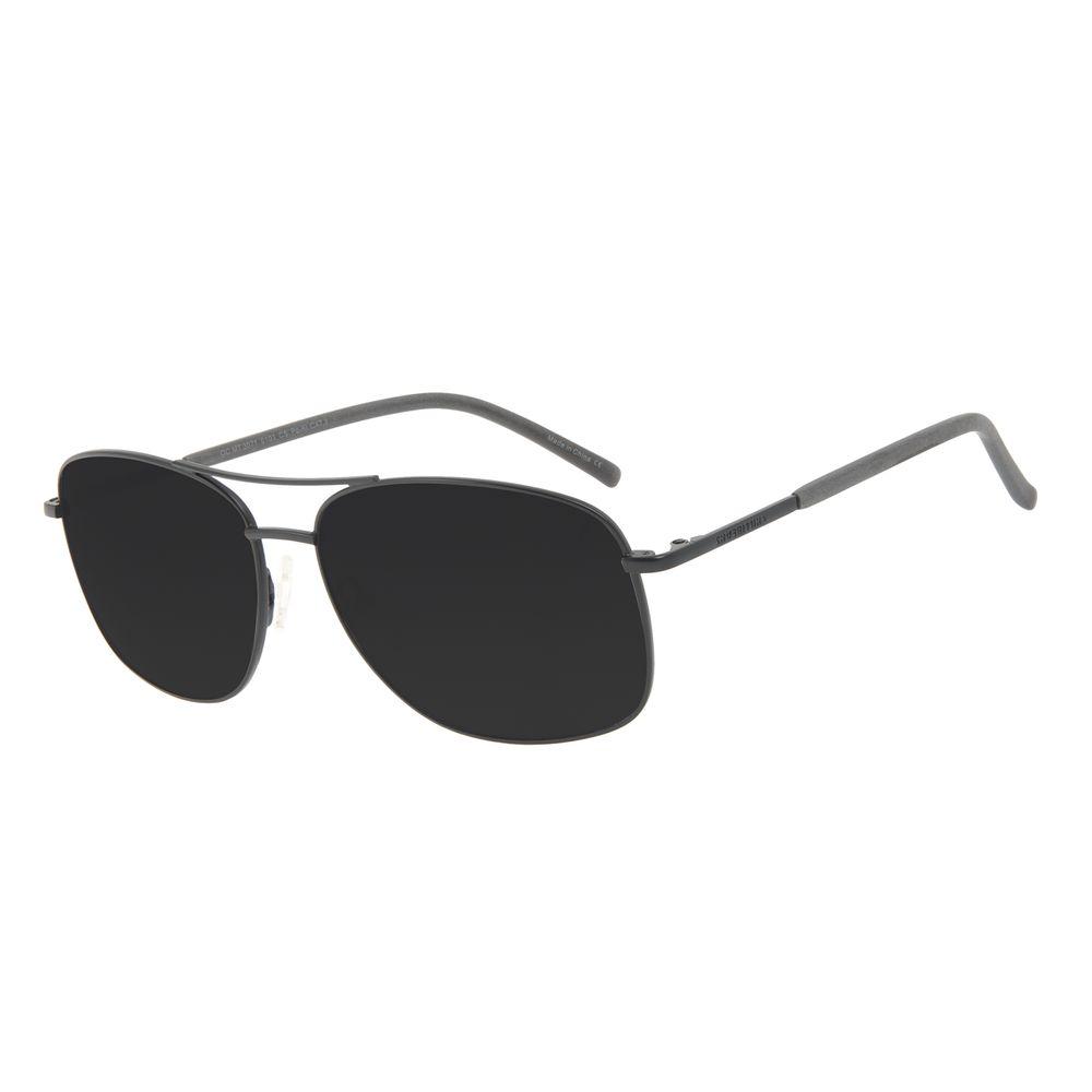 Óculos de Sol Masculino Chilli Beans Executivo Brilho Preto OC.MT.3071-0101