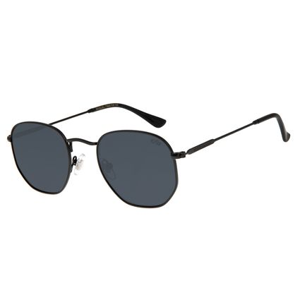 Óculos de Sol Unissex Chilli Beans Quadrado Hexagonal Preto OC.MT.3076-0101