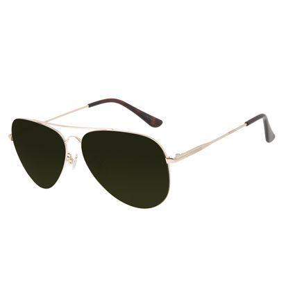 Óculos de Sol Unissex Chilli Beans Aviador Metal Brilho Verde OC.MT.3132-1521