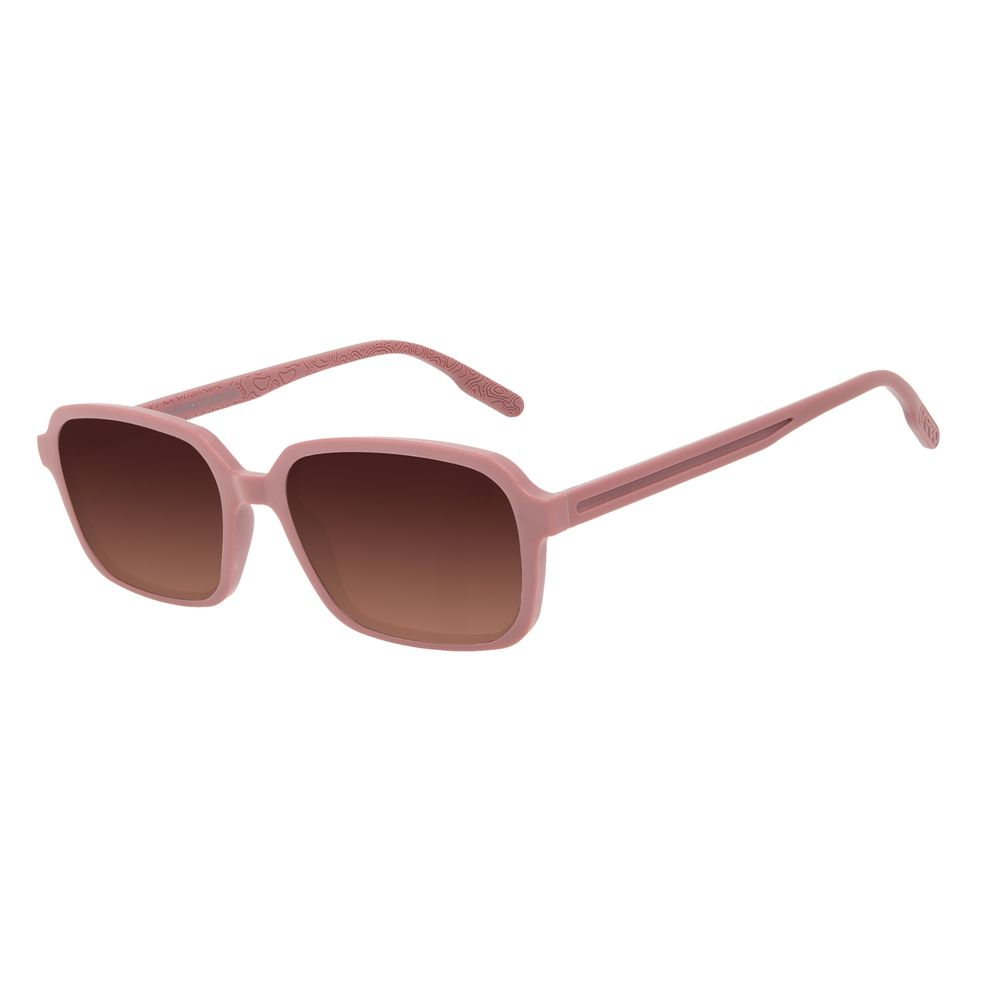 Óculos de Sol Feminino Eco Mapa Topográfico Quadrado Bege OC.CL.3275-5723
