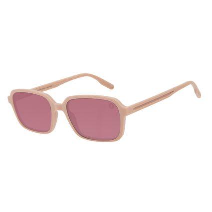 Óculos de Sol Feminino Eco Mapa Topográfico Quadrado Rosa OC.CL.3275-8181