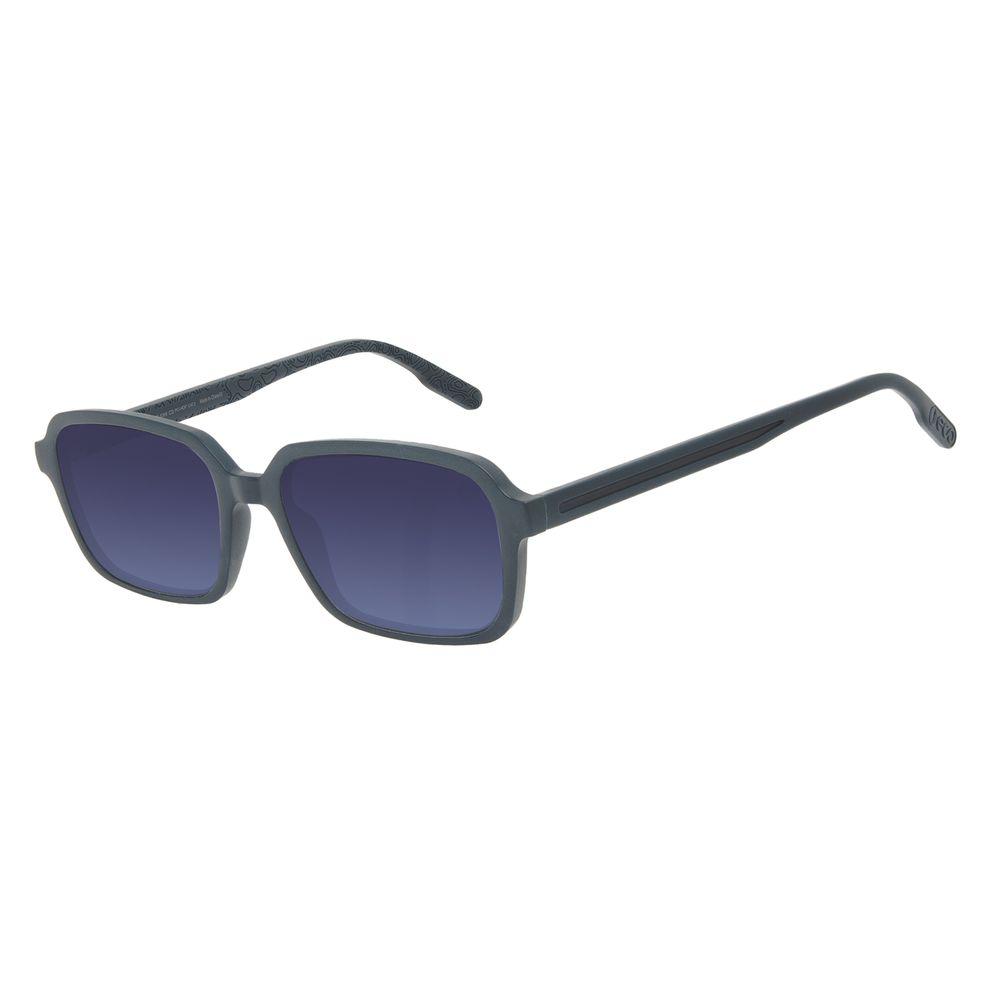 Óculos de Sol Feminino Eco Mapa Topográfico Quadrado Azul OC.CL.3275-8308