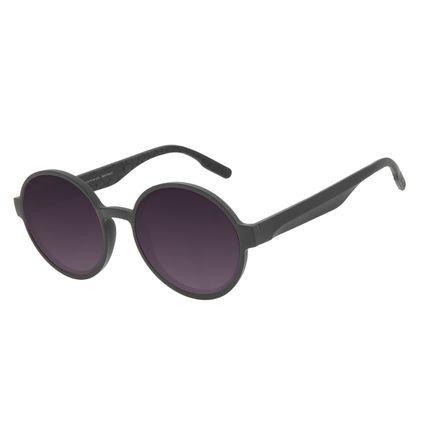 Óculos de Sol Feminino Eco Tecido Celular Redondo Preto OC.CL.3276-2001