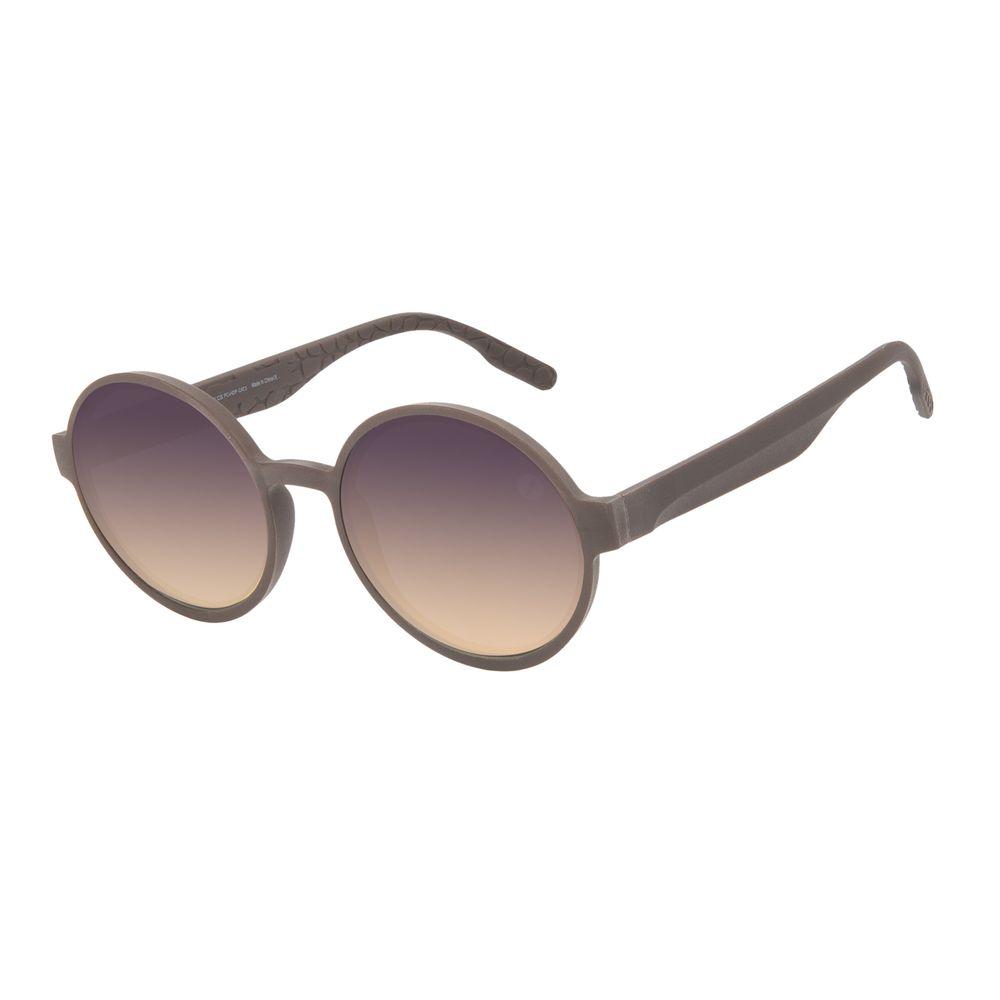 Óculos de Sol Feminino Eco Tecido Celular Redondo Marrom OC.CL.3276-2102