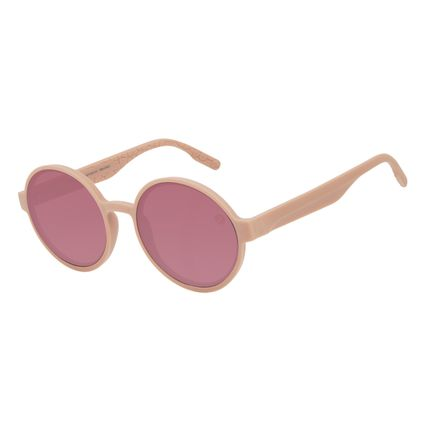 Óculos de Sol Feminino Eco Tecido Celular Redondo Rosa OC.CL.3276-8181