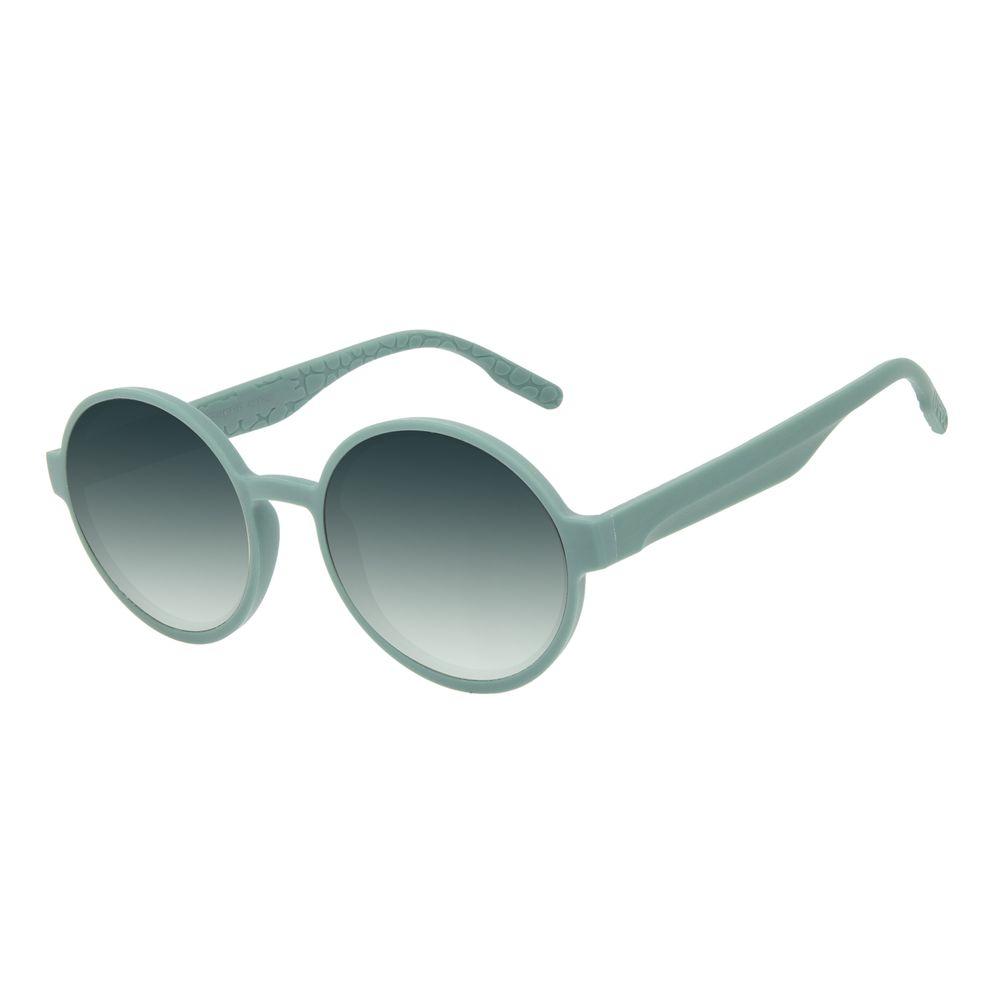 Óculos de Sol Feminino Eco Tecido Celular Redondo Verde Claro OC.CL.3276-8245