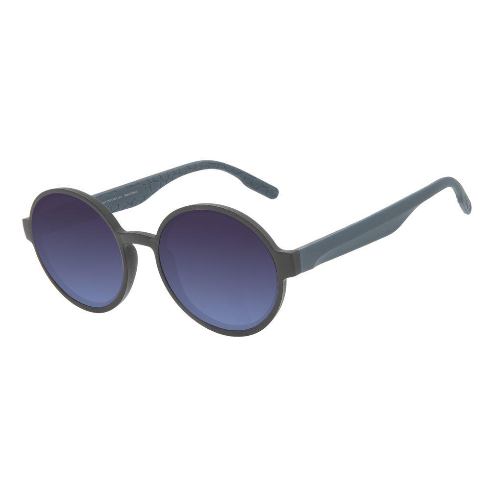 Óculos de Sol Feminino Eco Tecido Celular Redondo Degradê Azul OC.CL.3276-8301