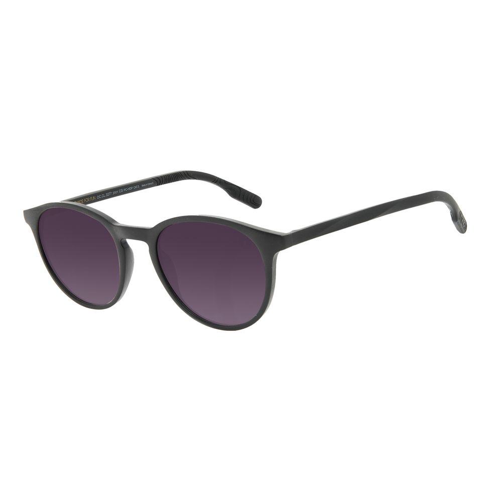 Óculos de Sol Unissex Eco Falésias Redondo Preto OC.CL.3277-2001
