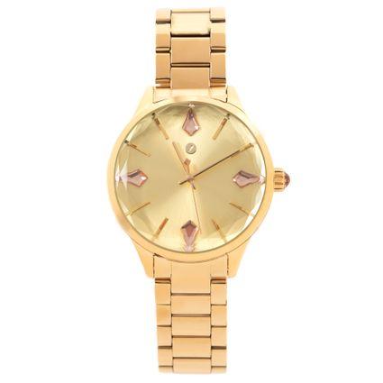 Relógio Analógico Feminino Chilli Beans Crystal Facetado Dourado RE.MT.1194-2121