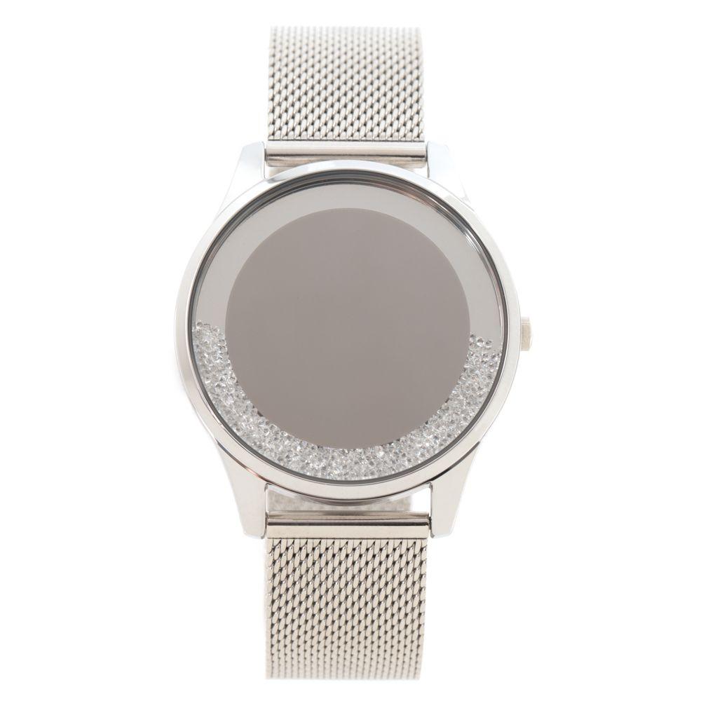 Relógio Digital Feminino Chilli Beans Crystal Pedrarias Prata RE.MT.1195-0707