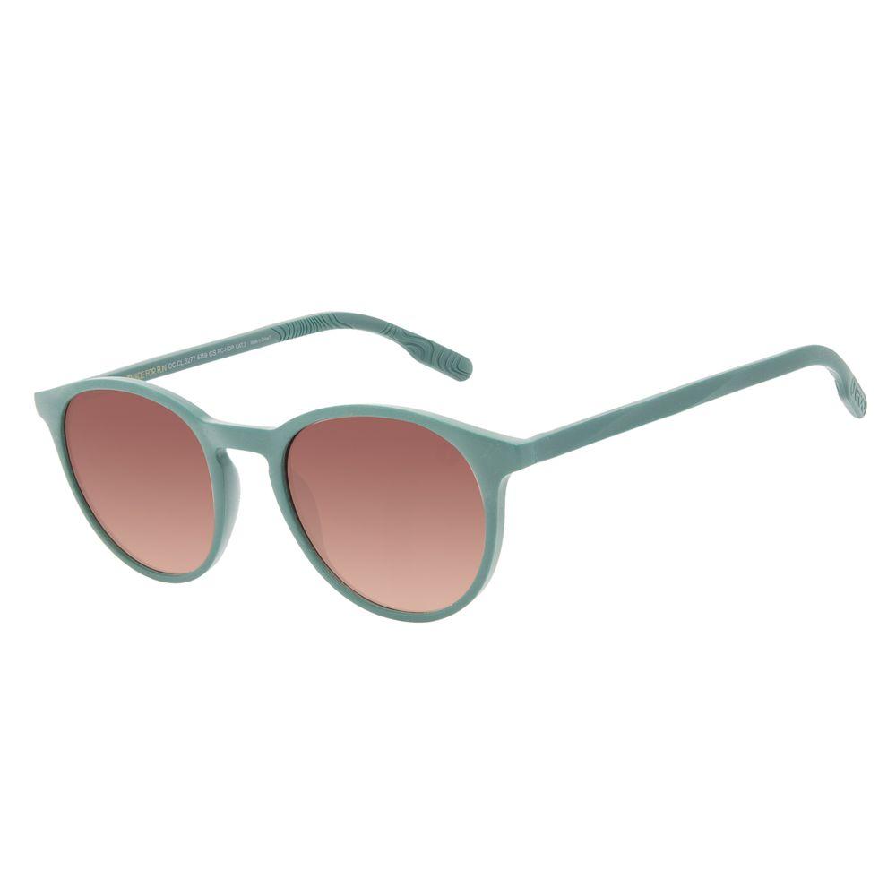 Óculos de Sol Unissex Eco Falésias Redondo Degradê Marrom OC.CL.3277-5759