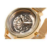 Relógio Analógico Feminino Chilli Beans Crystal Facetado 3D Dourado RE.MT.1203-2121.5