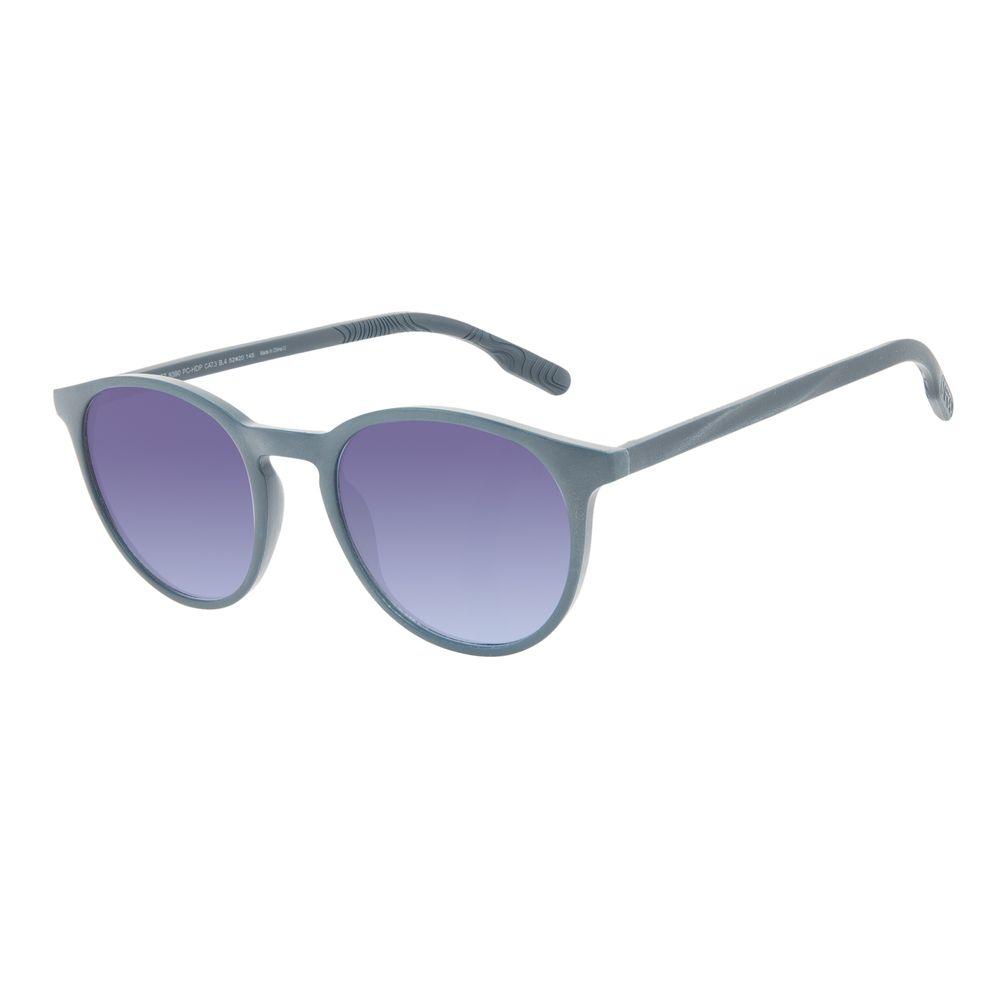 Óculos de Sol Unissex Eco Falésias Redondo Degradê Azul OC.CL.3277-8390