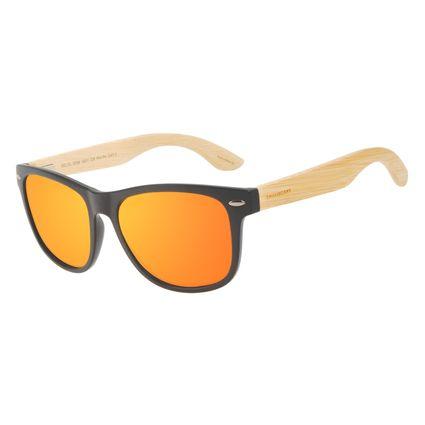 Óculos de Sol Masculino Chilli Beans Bamboo Polarizado Bossa Nova Espelhado OC.CL.3338-3201