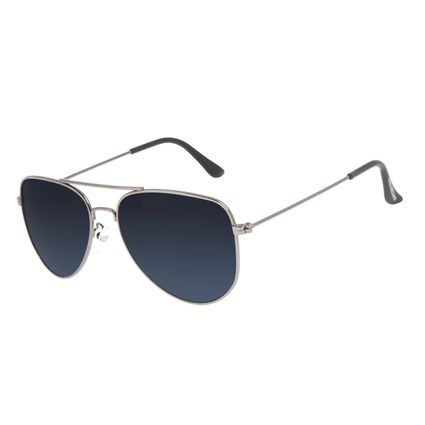 Óculos de Sol Unissex Chilli Beans Aviador Metal Fume Polarizado OC.MT.3216-0505