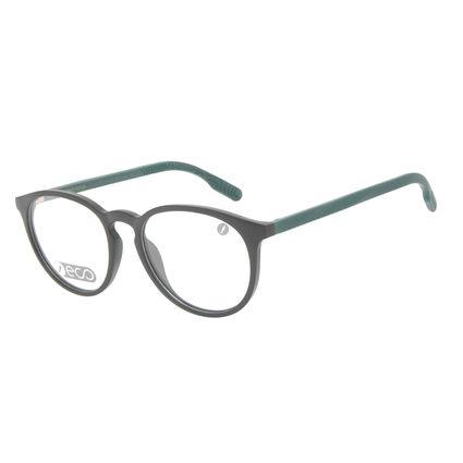 Armação Para Óculos de Grau Masculino Eco Falésias Redondo Verde LV.IJ.0195-0115