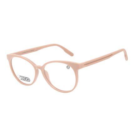 Armação Para Óculos de Grau Feminino Eco Mapa Topográfico Cat Rosé LV.IJ.0196-9595