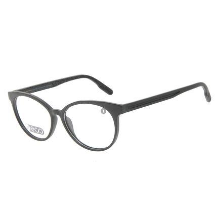 Armação Para Óculos de Grau Feminino Eco Mapa Topográfico Cat Preto LV.IJ.0196-0101