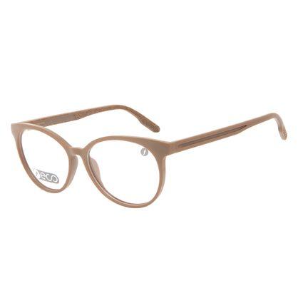 Armação Para Óculos de Grau Feminino Eco Mapa Topográfico Cat Marrom LV.IJ.0196-4747