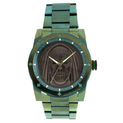 Relógio Analógico Masculino Harry Potter Comensais da Morte Verde RE.MT.1233-0115