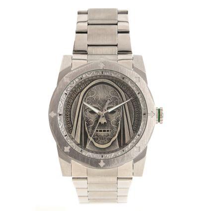 Relógio Analógico Masculino Harry Potter Comensais da Morte Prata RE.MT.1233-0707