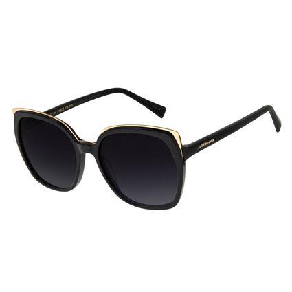 Óculos de Sol Feminino Chilli Beans Quadrado Maxi Retro Preto OC.CL.3246-2001