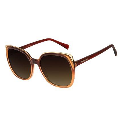 Óculos de Sol Feminino Chilli Beans Quadrado Maxi Retro Marrom Escuro OC.CL.3246-5747