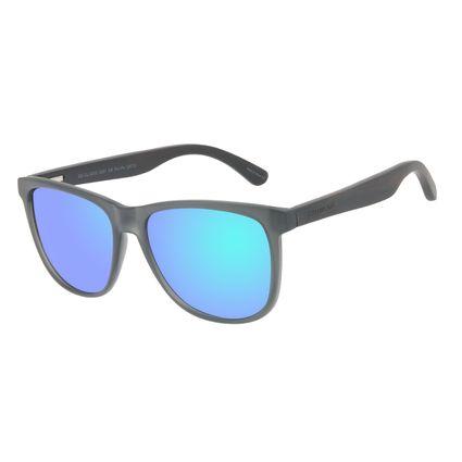Óculos de Sol Masculino Chilli Beans Bamboo Polarizado Quadrado Espelhado Azul OC.CL.3335-3201