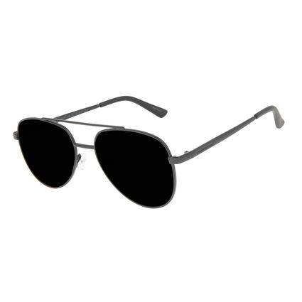 Óculos de Sol Unissex Chilli Beans Aviador Metal Brilho Fosco OC.MT.2984-0131