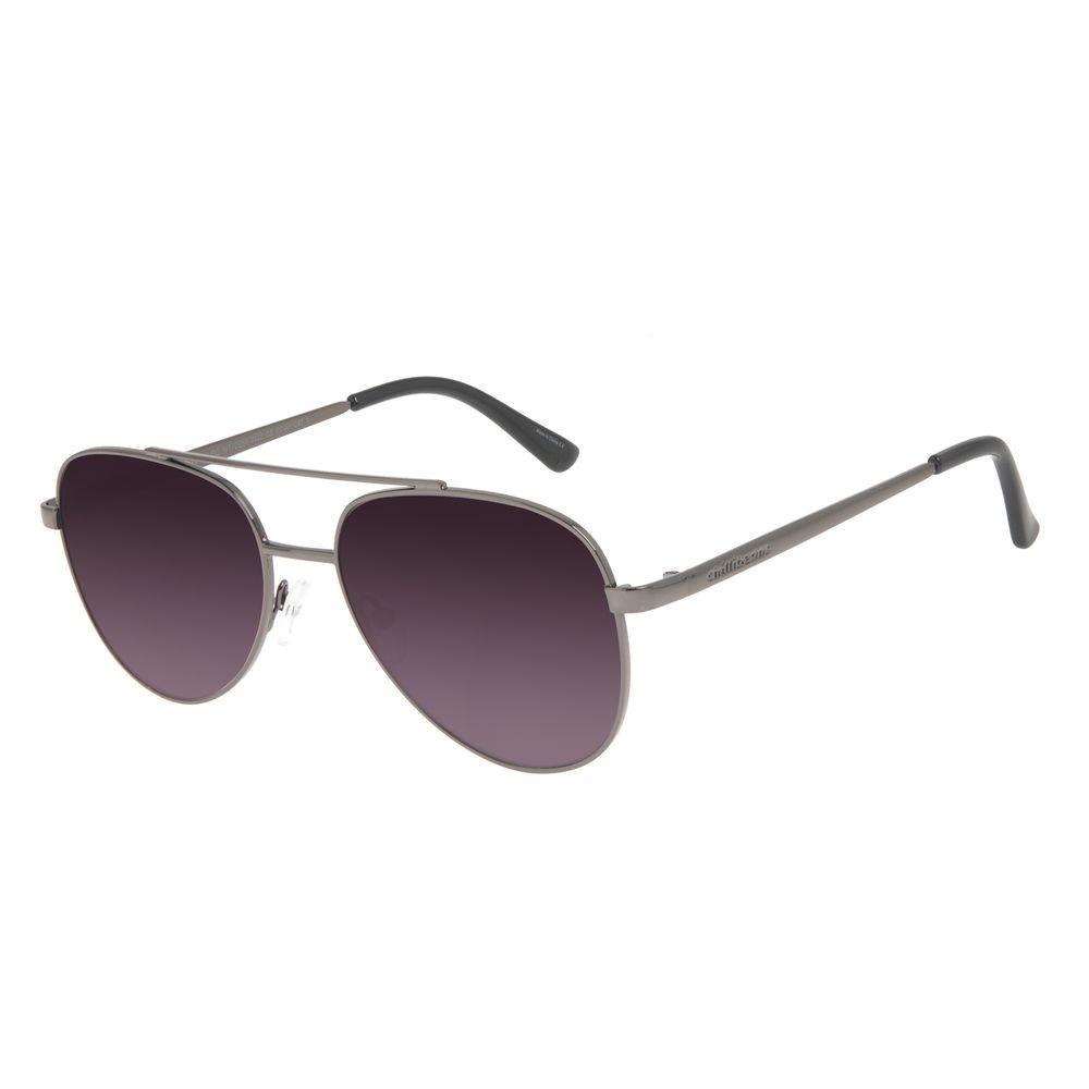 Óculos de Sol Unissex Chilli Beans Aviador Metal Brilho Ônix OC.MT.2984-2022