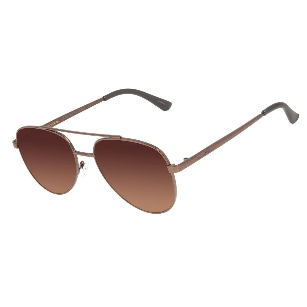 Óculos de Sol Unissex Chilli Beans Aviador Metal Brilho Marrom OC.MT.2984-2002